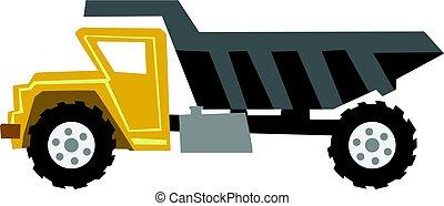 dump truck - vector illustration of dump truck