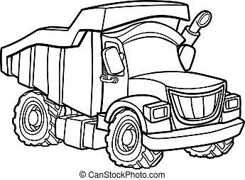 Dump Truck - Dump tipper truck lorry construction vehicle ...