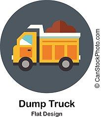 Dump Truck Flat Icon