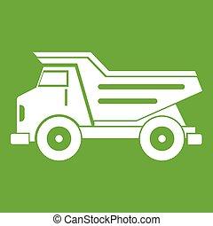Dump truck icon green