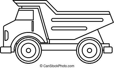 Dump Truck Icon Outline