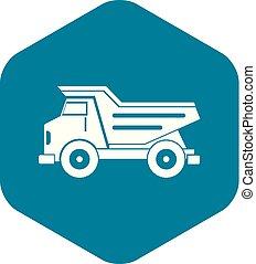 Dump truck icon simple