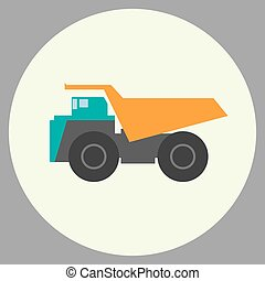 Dump truck icon vector illustration