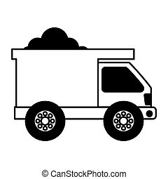 Dump truck isolated icon