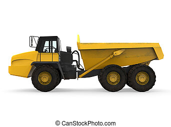 Dump Truck Isolated - Dump Truck isolated on white...