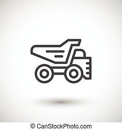 Dump truck line icon