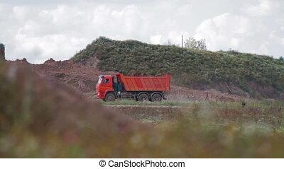 Dump Truck on construction site
