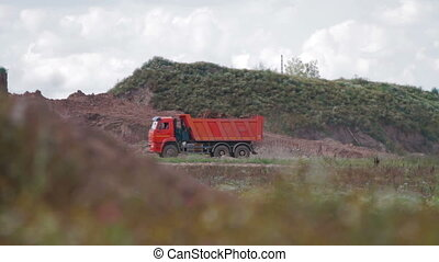 Dump Truck on construction site - Dump Truck on a...