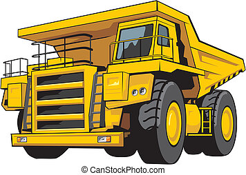 Perfectly executed with the big degree of reliability the dump-body truck image