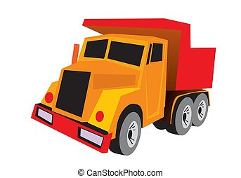 Dump truck, Tip truck, Tip lorry. Construction vehicle.