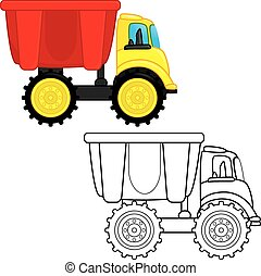 Dump Truck Toy Coloring Book