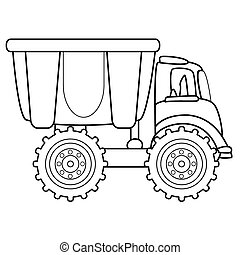 Dump truck toy. Vector illustration
