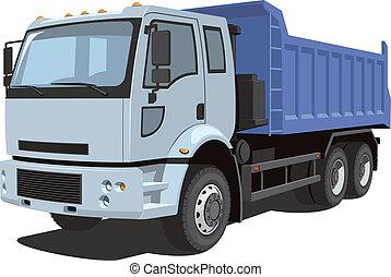 Dump truck - Vector isolated dump truck on white background...