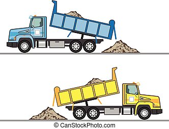 Dump Truck vector eps file