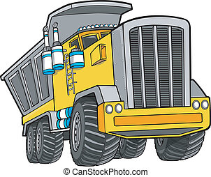 Dump Truck Vector Illustration Art