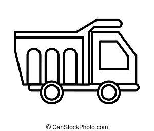 dump truck vehicle flat style