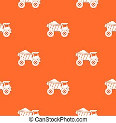 Dump truck with sand pattern seamless