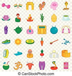 Dumpbell icons set. Cartoon style of 36 dumpbell vector icons for web for any design