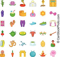 Dumpbell icons set. Cartoon style of 36 dumpbell vector icons for web isolated on white background