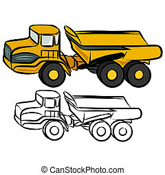 Vector illustration : Dumper sketch on a white background.