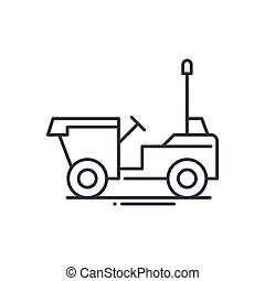 Dumper icon, linear isolated illustration, thin line vector, web design sign, outline concept symbol with editable stroke on white background.
