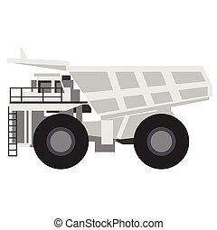 Dumper truck flat illustration
