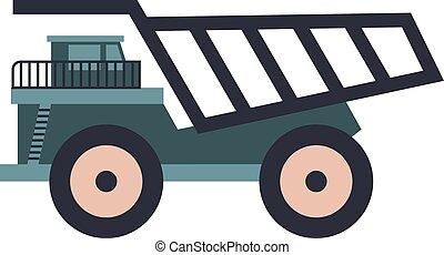 Dumper truck flat illustration on white