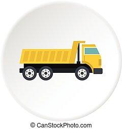 Dumper truck icon circle