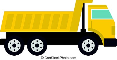 Dumper truck icon isolated