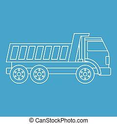 Dumper truck icon outline