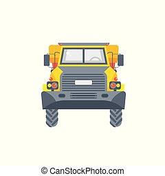 dumper truck illustration front view
