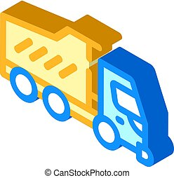 dumper truck isometric icon vector isolated illustration