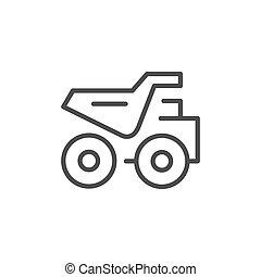 Dumper truck line outline icon