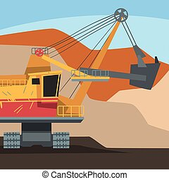 Dumping Truck Working at Mining Quarry, Metallurgical ...