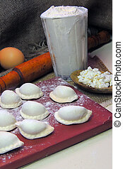 Dumplings with cottage cheese