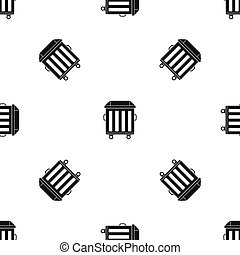 Dumpster on wheels pattern seamless black