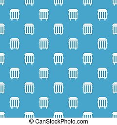 Dumpster on wheels pattern seamless blue