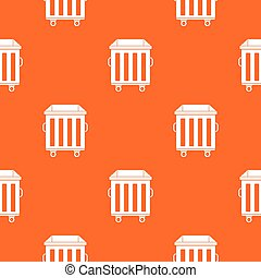 Dumpster on wheels pattern seamless