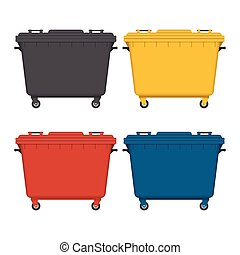 Dumpster vector illustration isolated on white background