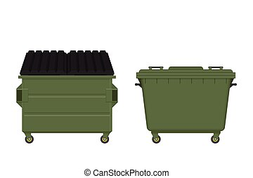 Dumpster vector illustration isolated on white background