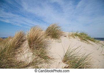duna, azul, céu