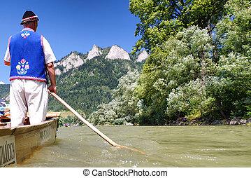 dunajec, スロバキア, 川, いかだで運ぶこと
