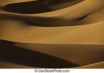dunas, arena, desierto de sahara