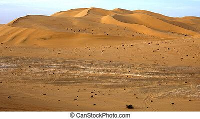 dunas, arena, desierto de sahara, libia