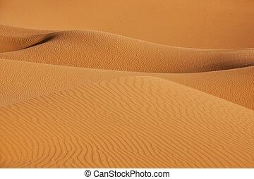 dunas, arena, desierto