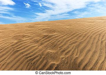 dunas, arena, desierto, maspalomas