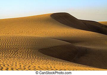 dunas, arena, maspalomas, canaria., gran