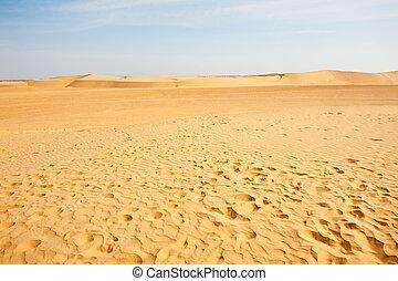 dunas, arena, sáhara