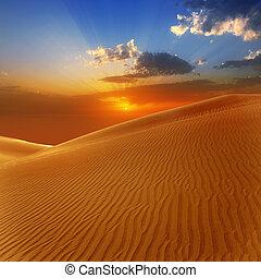 dunas, canaria, areia, gran, deserto, maspalomas
