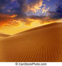 dunas, canaria, arena, gran, desierto, maspalomas